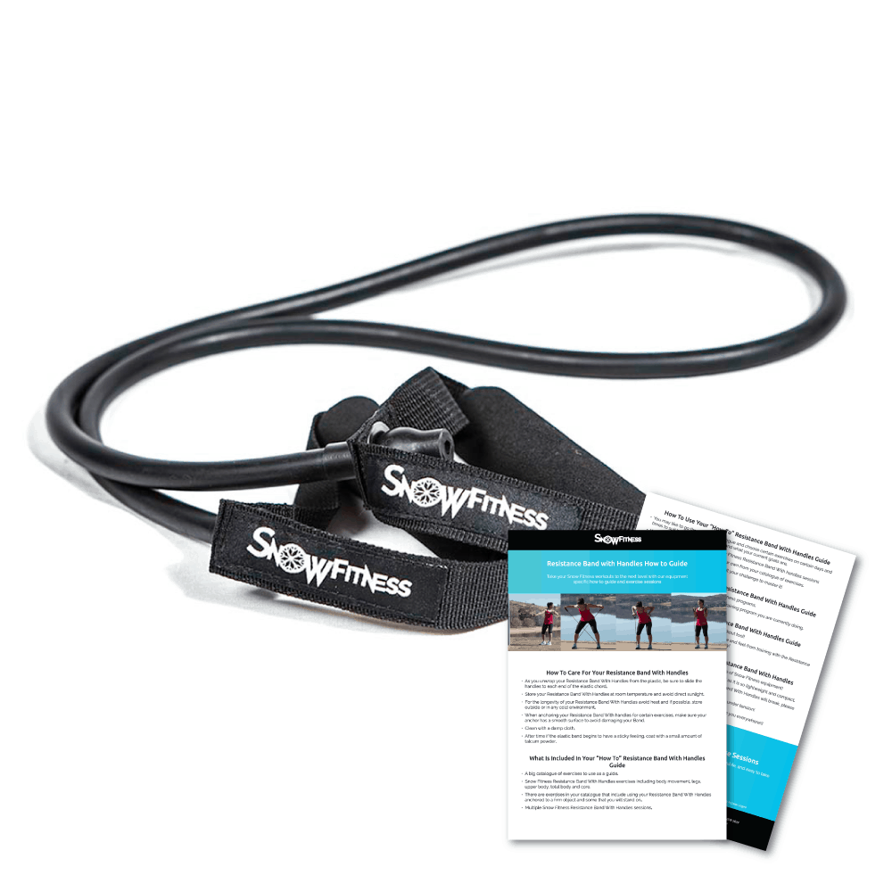 Fitness Bands With Handles: Snow Fitness Resistance Band With Handles